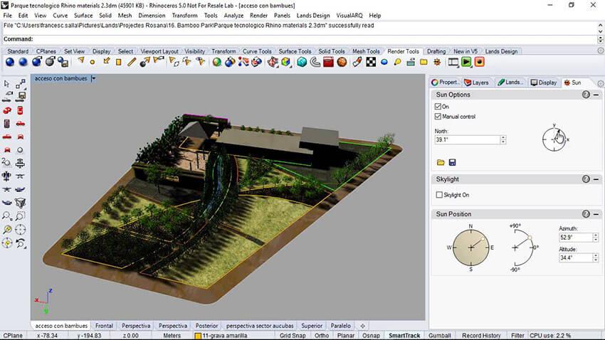 پلاگین راینو - Land Design