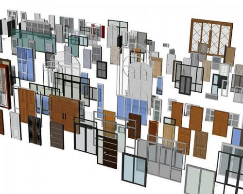100 مدل درب و پنجره